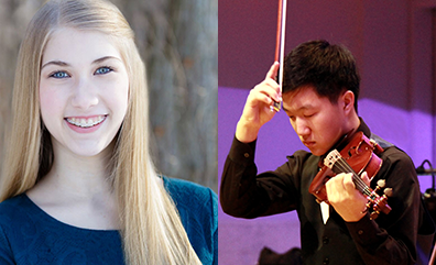 2015 Jean L. Petitt Memorial Music Scholarship Co-Winners Hannah Kulawiak and Sean Yongjoo Lim.